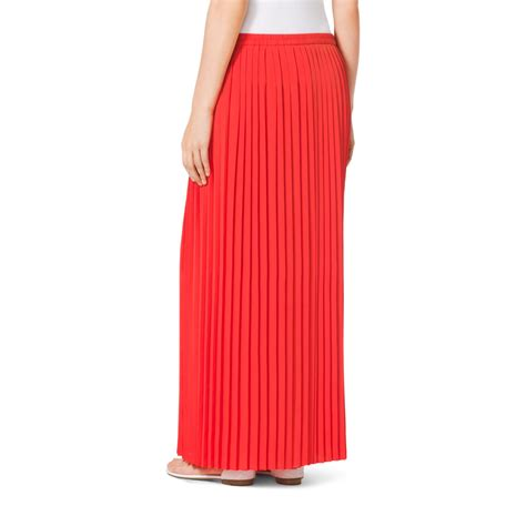 michael kors pleated maxi skirt in lyst