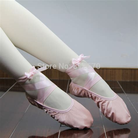 ballet slipper pink popular ballet shoes with ribbon buy cheap ballet shoes