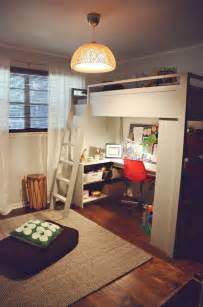 Big Bathroom Ideas mixing work with pleasure loft beds with desks underneath