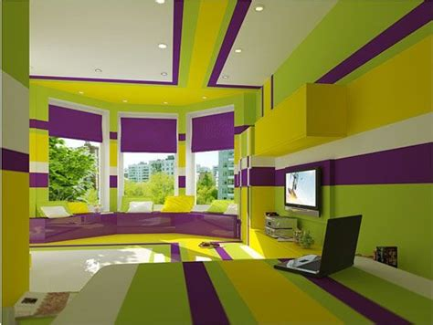 Yellow Green Bedroom Design The King S Cake Bedroom Purple Green Yellow Interior