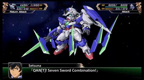 Gundam Attack srw v 00 qanta gundam all attacks