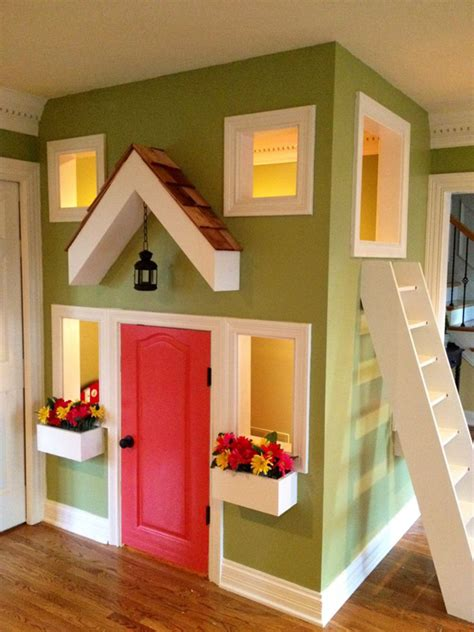 Small Reading Room Design Ideas by Small Indoor Kids Playhouse Design