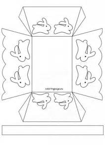 paper basket template easter coloring page