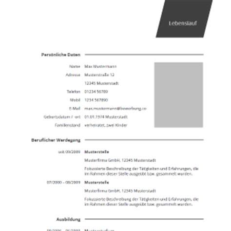 Lebenslauf Zweiter Bildungsweg Lebenslauf Muster Vorlagen F 252 R Die Bewerbung 2017