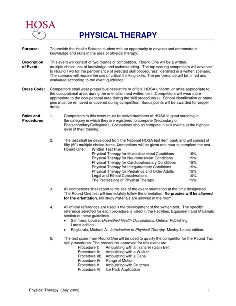 physical therapist resume template physical therapy technician resume sle