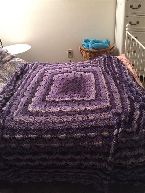 fo virus blanket in caron cake s bumbleberry 77x77 crochet
