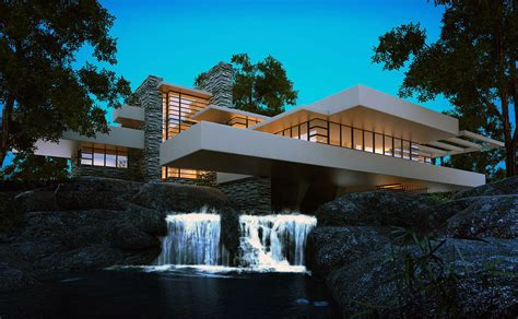 design concept of falling water design crush frank lloyd wright