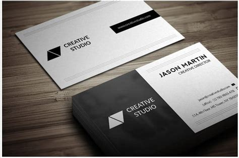 business card back template dual backside business card design template design