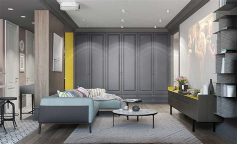 blue gray yellow living room a pair of modern homes with distinctively bright color themes