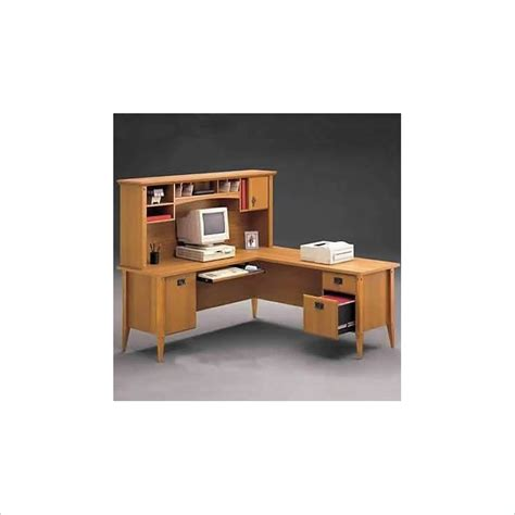 Wood Home Office Desks Bush Furniture Mission L Shape Wood Home Office Desk Ebay