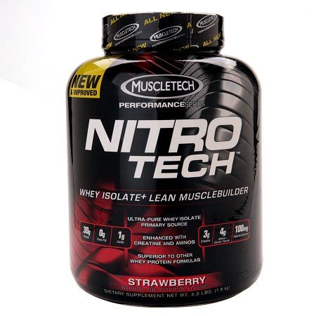 Whey Protein Nitro Tech muscletech nitro tech whey protein isolate strawberry walgreens