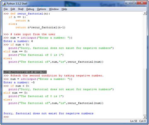 python tutorial javatpoint python factorial number using recursion javatpoint