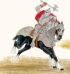 Cheval Et Chevalier Chevalier Au Lion