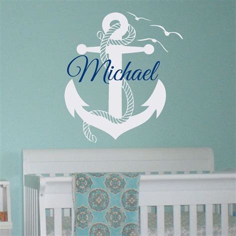 wall decal boy personalized initial name wall decals