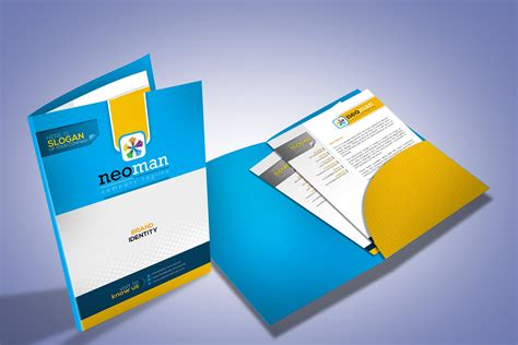 Corporate Presentation Folder Design Stationery Templates Creative Market Folder Design Template