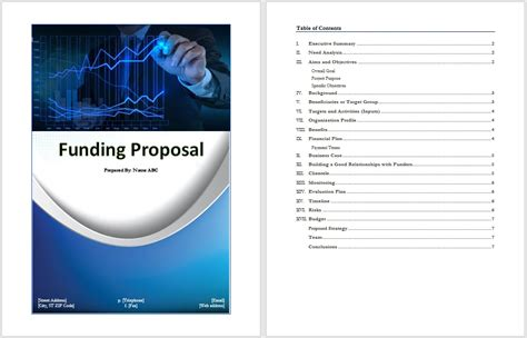 funding proposal template word templates