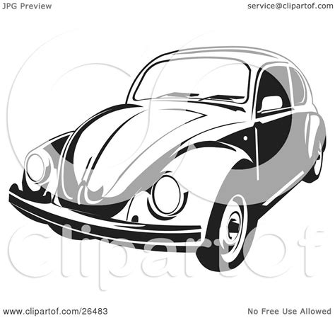volkswagen car black clipart illustration of a volkswagen beetle car in black