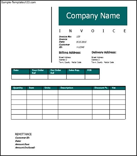 construction invoice template free construction invoice