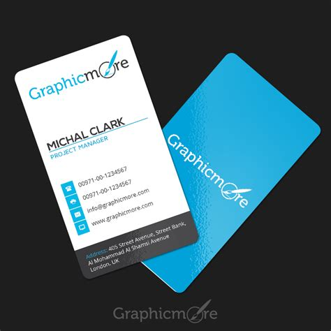 clean vertical rounded corner business card template