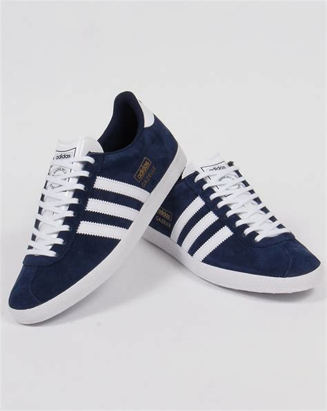 adidas gazelle og trainers navy white originals mens
