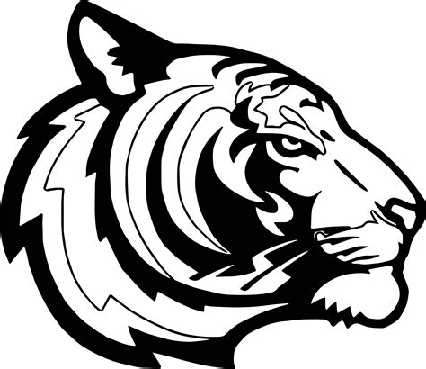 side tiger face coloring page wecoloringpage