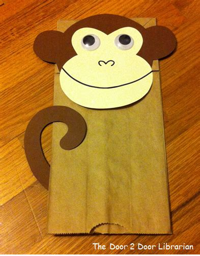 paper bag monkey pattern door 2 door storytime the door 2 door librarian
