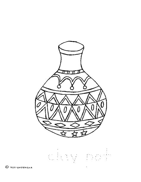 coloring earthen pots free coloring pages of clay pot