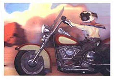 pug motorcycle pugs dogbreed gifts pug greeting cards notecards