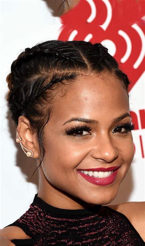 elegant up sweep cornrow styles 55 best natural hair cornrows images on pinterest