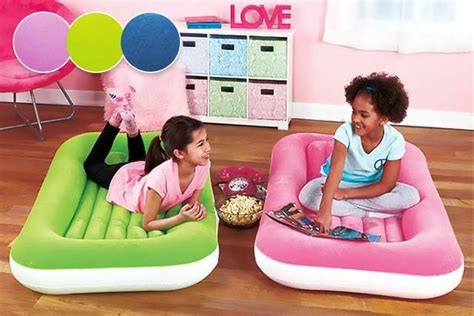 junior airbed airlock child kiddy air bed with safe bumper sides ebay