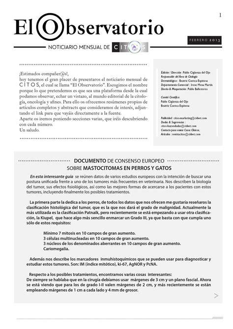 EL OBSERVATORIO FEB´13 by CITOS-REVISTA DE CITOLOGIA