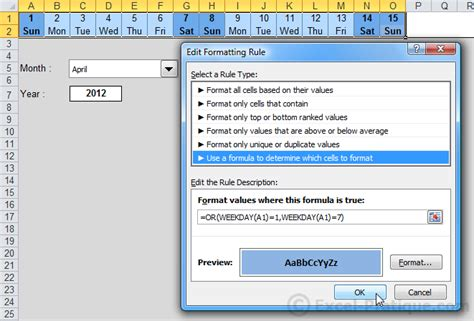 excel course cell size and formatting excel course conditional formatting exles 7 to 10