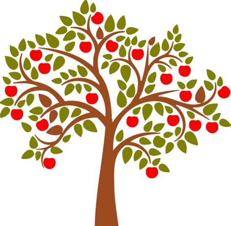 fruit tree clipart fruit tree silhouette clipart clipart best