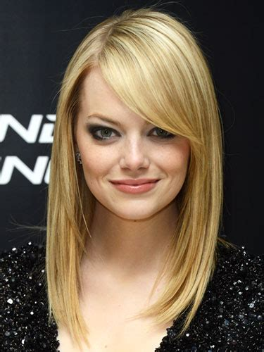 side swept bangs oblong face types of bangs foodartfashion