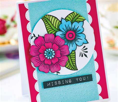 greeting card crafts projects floral greeting card project free card downloads