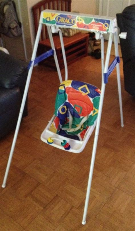 when can a baby use a swing us 140 00 used in baby baby gear baby swings vintage