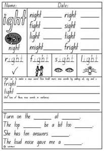 new 962 word family worksheets ight family worksheet