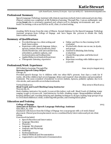 sle speech pathology resume stewart slpa resume