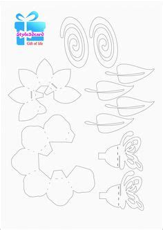 free pop up flower card templates greeting 3d pop up card kirigami pattern 1 pop