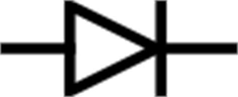 vector diode symbol diode symbol clip free vector 4vector