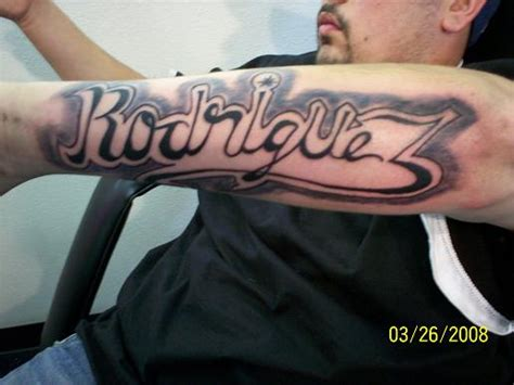 rodriguez tattoo designs 37 forearm name tattoos