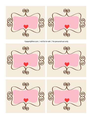 printable paper labels valentine s day paper crafts roundup paper crave