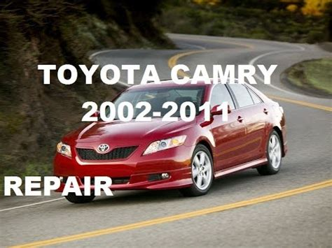 service and repair manuals 2008 toyota camry solara head up display toyota camry service repair manual 2011 2010 2009 2008 2007 2006 2005 2004 2003 2002 youtube