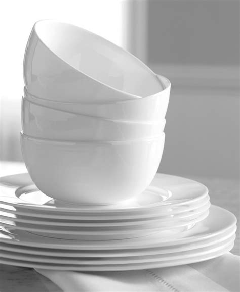 hotel collection dinnerware bone china 12 piece set