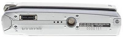 Konektor Sony T100 sony dsc t100 review design