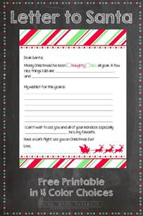 Parent Corner The Letter Your Can T Write You Free Printable Letter To Santa The Pinning