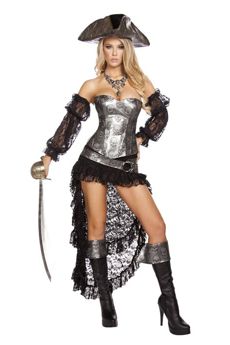 pirate costume deadly pirate captain costume skull pirate costume