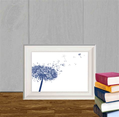 home decor blue dandelion decor print navy blue home decor navy by dorindaart