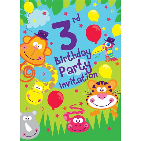 3rd birthday card template 3rd birthday supplies delights