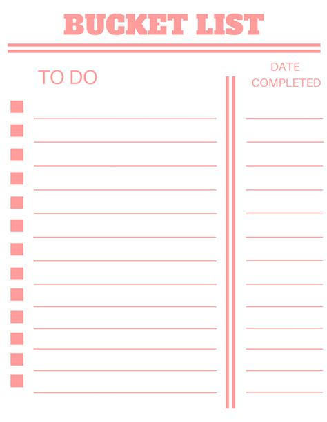 bucket list template gse bookbinder co